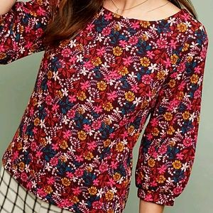 NEW Anthropologie Maeve Floral Cropped Top Small